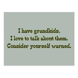 Cuidado de abuelos postal