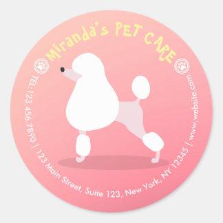 Cuidado de animales de compañía adorable del pegatina redonda