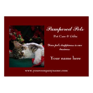 Cuidado de animales de compañía, guardería de la tarjetas de visita grandes