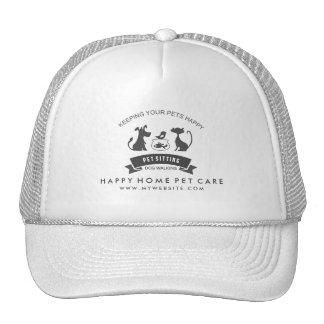 Cuidado de animales de compañía y gorra de encargo