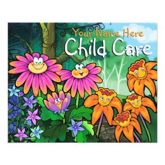 Cuidado de día del cuidado de niños que cuid losa folleto 11,4 x 14,2 cm