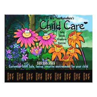 Cuidado de día del cuidado de niños que cuid losa folleto 21,6 x 28 cm