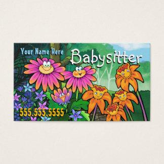Cuidado de día del cuidado de niños que cuid losa tarjeta de negocios