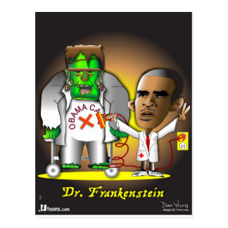 Cuidado de Frankenstein Obama Tarjetas Postales