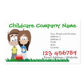 Cuidado de niños - campamento de verano - tarjeta tarjetas de negocios