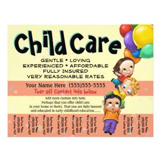 Cuidado de niños. Cuidado de día. Hoja de rasgón