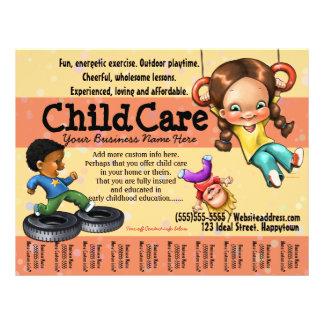 Cuidado de niños. Cuidado de día. Plantilla Folleto 21,6 X 28 Cm