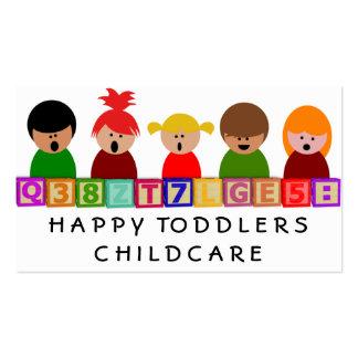 Cuidado de niños, guardería tarjeta de visita