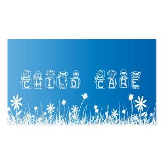 Cuidado de niños, tarjeta de visita que cuid losa