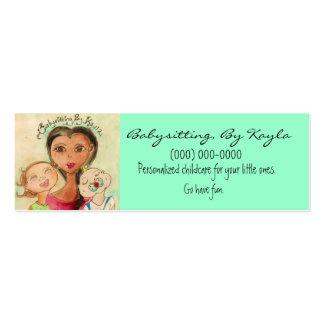 Cuidado de niños/tarjeta que cuid losa nin¢os tarjetas de visita mini
