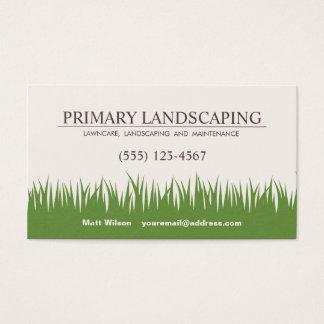 Cuidado del césped que ajardina la hierba de los tarjeta de visita