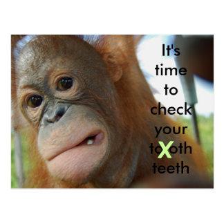 Cuidado del diente: Recordatorio de la cita del Postal