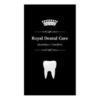 Cuidado dental - blanco negro moderno profesional plantilla de tarjeta de negocio