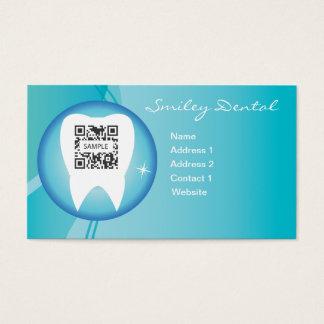 Cuidado dental de la plantilla de la tarjeta de