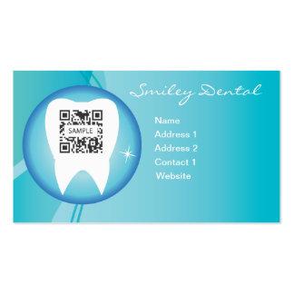 Cuidado dental de la plantilla de la tarjeta de tarjetas de visita