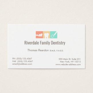 Cuidado dental del dentista moderno tarjeta de visita