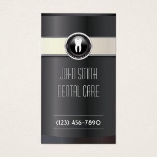 Cuidado dental negro elegante del dentista tarjeta de negocios