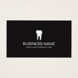 Cuidado dental negro llano del dentista mínimo tarjeta de negocios