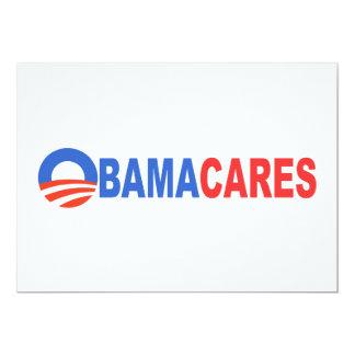 Cuidados de Obama Invitación 12,7 X 17,8 Cm
