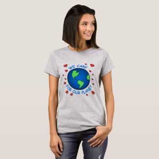 Cuidamos sobre nuestro planeta camiseta