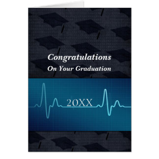 Cuidando o médico o el doctor Graduation Tarjeta
