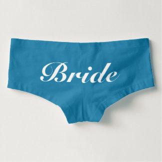 Culottes Algo azul para la novia Boyshorts