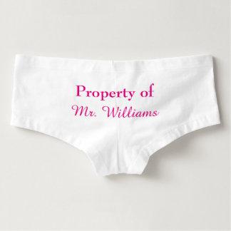 Culottes Propiedad de Sr. Panties en rosa