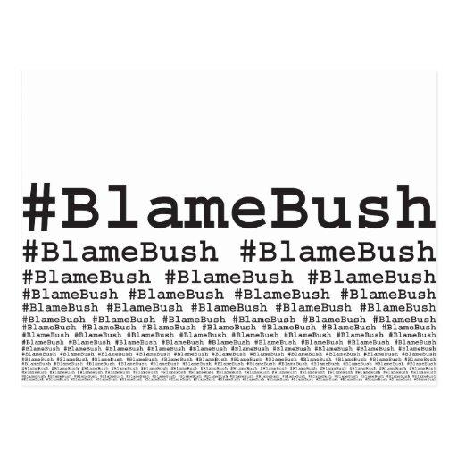 Culpa Bush Tarjetas Postales