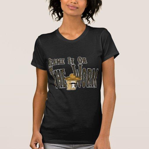 Cúlpelo en el gusano camisetas