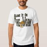Cúlpelo en el gusano camiseta