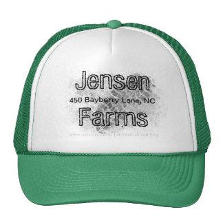 Cultive el gorra, granja de la familia, pista del  gorros bordados