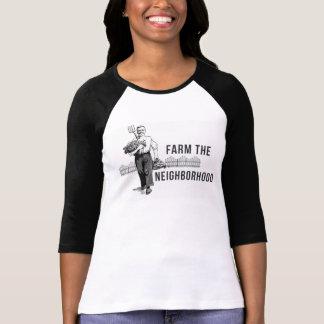 Cultive la camiseta del raglán de la vecindad