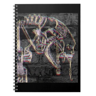 Culto de la máquina (pintada) cuaderno