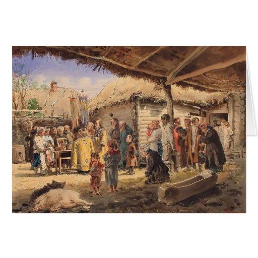 Culto de oración de Vladimir Makovsky- en la granj Felicitaciones