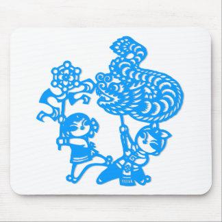 Cultura china danza del dragón alfombrilla de ratón