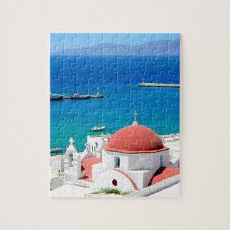 Cumbre griega de la isla de Mykonos Puzzle