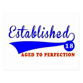 Cumpleaños 18 envejecido a la perfección postal