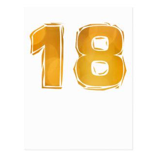 Cumpleaños 18 postal