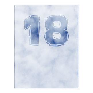 Cumpleaños 18 tarjeta postal