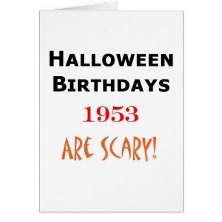 cumpleaños 1953 de Halloween Tarjeta De Felicitación