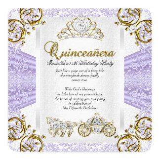 Cumpleaños 2 de Quinceanera de la lavanda del Invitación 13,3 Cm X 13,3cm