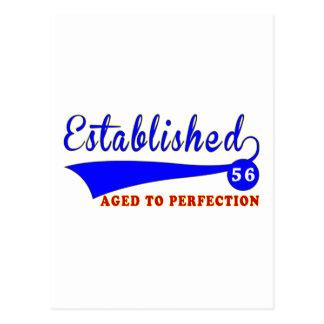 Cumpleaños 56 envejecido a la perfección postal
