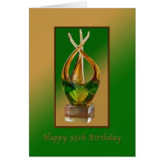 Cumpleaños, 95.o, escultura de cristal tarjeta