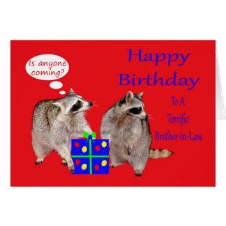 Cumpleaños a la tarjeta de felicitación del cuñado