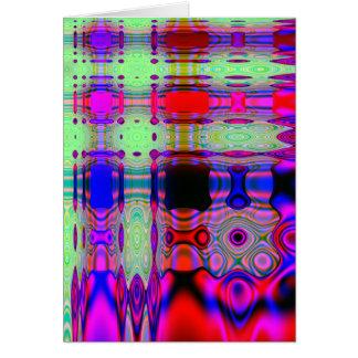 Cumpleaños abstracto, alemán colorido tarjeta pequeña