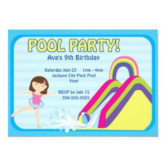 Cumpleaños adaptable de la fiesta en la piscina comunicado
