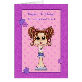 Cumpleaños adolescente, feliz trigueno lindo tarjetas
