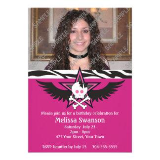 Cumpleaños adolescente púrpura y negro