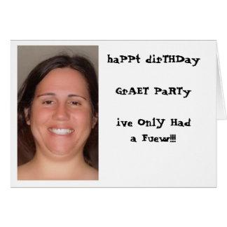 Cumpleaños adulto tarjeta de felicitación