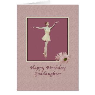Cumpleaños, ahijada, bailarina en Pointe Tarjeta De Felicitación